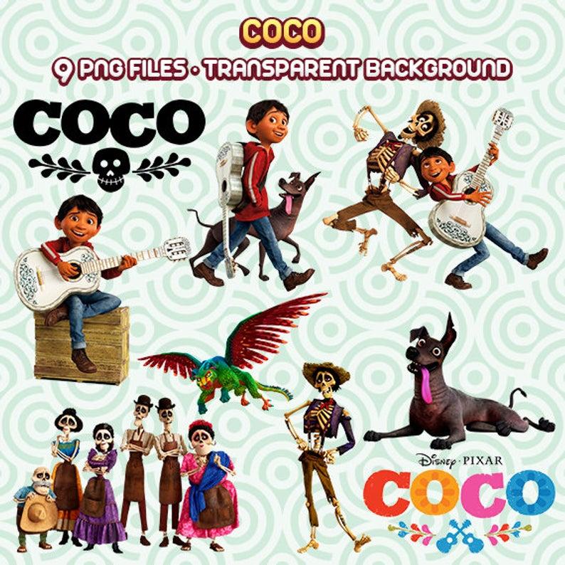 Coco Clipart, Disney Coco Movie, Coco PNG, Digital Coco, Coco Files, Coco  Images, Instant Download 105.