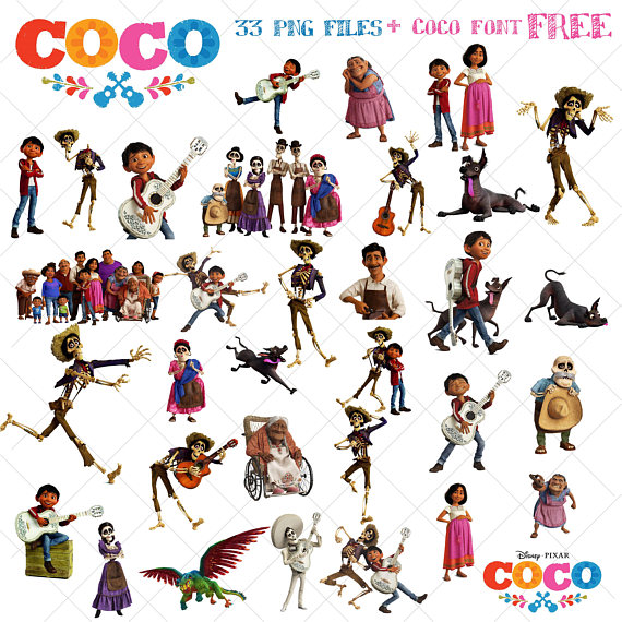 33 Coco Clipart, Disney Coco Movie, coco png, images, clipart vector.