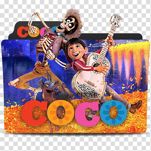 Pixar Folder Icon , coco transparent background PNG clipart.
