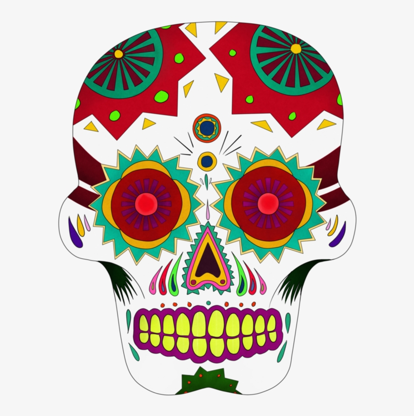 Coco Sugar Skull Png Clip Art Black And White Download.