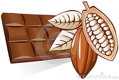 Cocoa bean clipart.