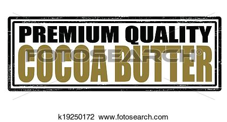 Clipart of Cocoa butter k19250172.