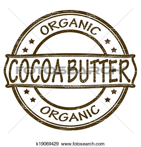 Clip Art of Cocoa butter k19069429.