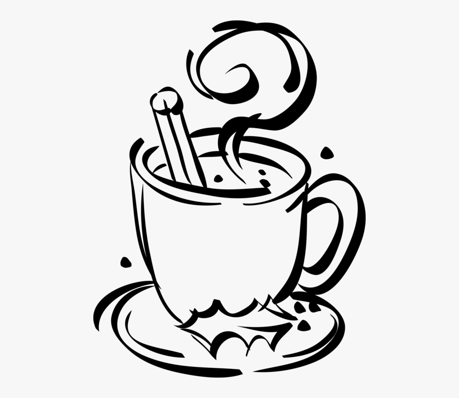 Vector Illustration Of Cup Of Hot Chocolate With Christmas.