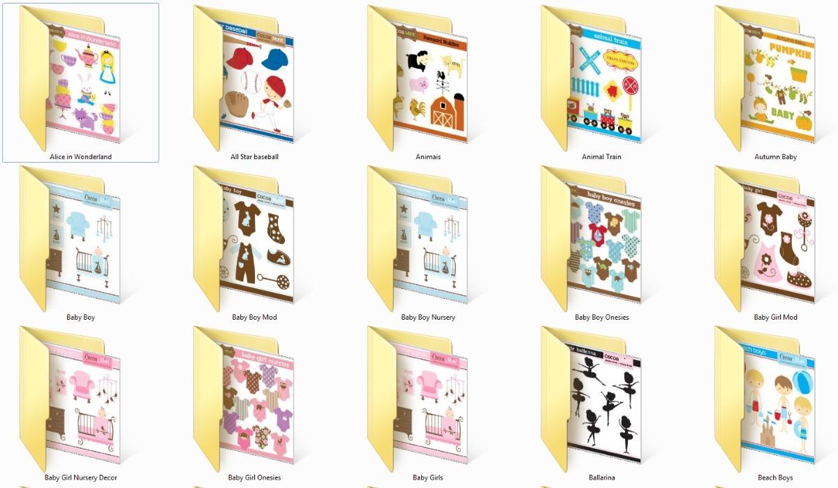 Kit Elementos Png Cocoa Mint 95 Kits Clipart Scrapbook.
