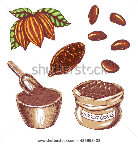 Cocoa Powder Stock Photos, Royalty.