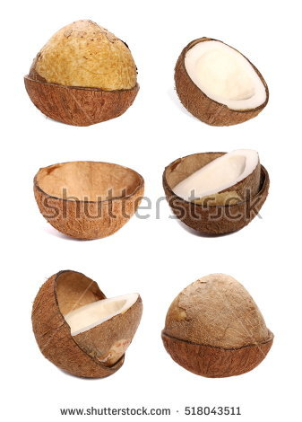 Coconut Isolated Stock Photos, Royalty.