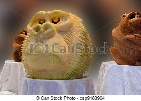 Stock Photo of Food Carving.