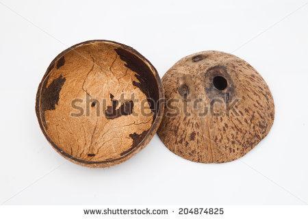 Coconut Shell Stock Photos, Royalty.