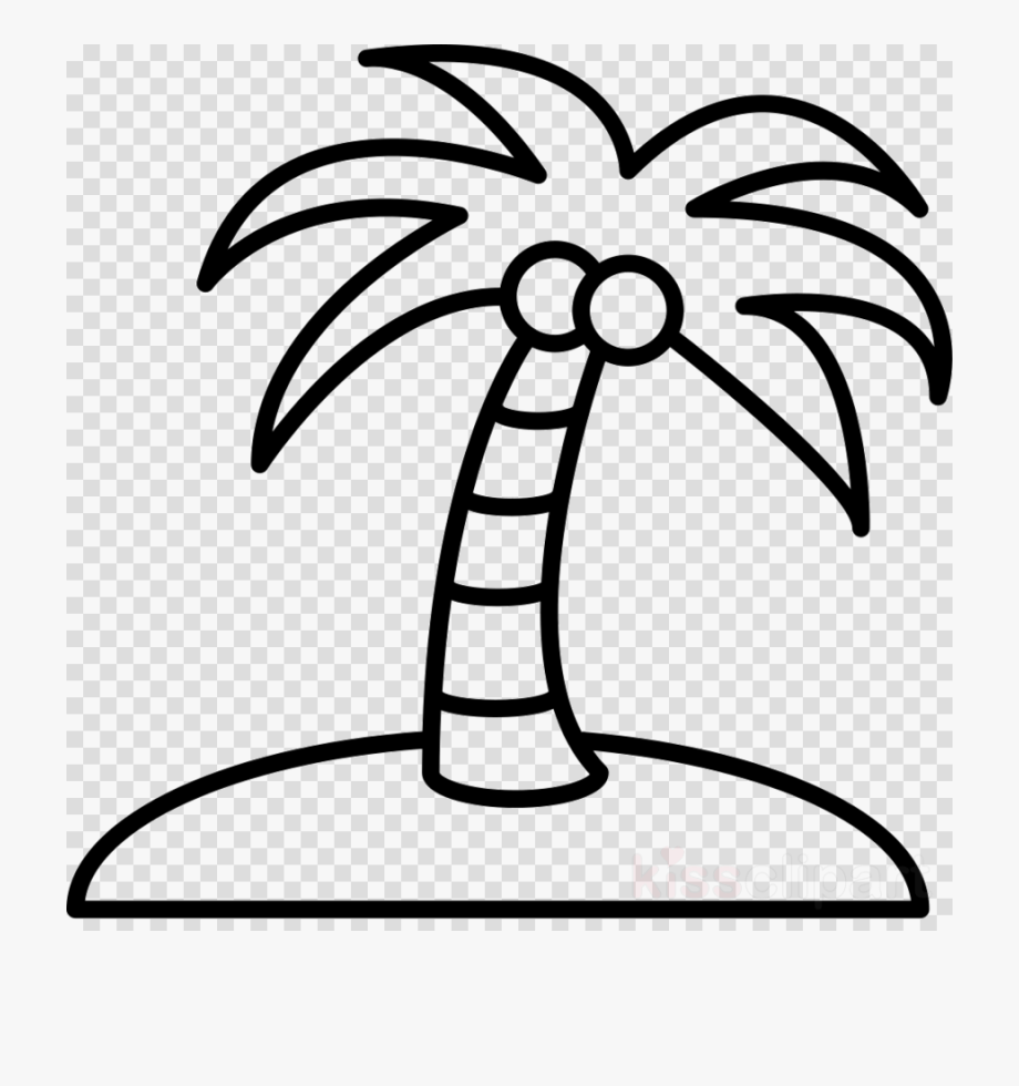 Coconut Tree Clipart Outline.