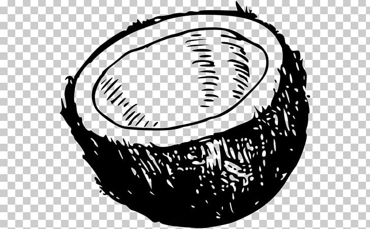 Coconut Black And White PNG, Clipart, Almond, Ball, Baseball.