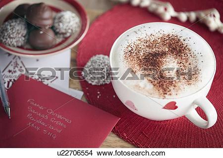 """Stock Photo of """"Coffee, Invitation card and coconut."""