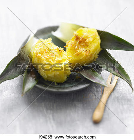 Pictures of Pineapple bites coated with curied coconut 194258.