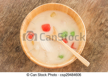 Stock Photography of Water chestnut coated with tapioca starch in.
