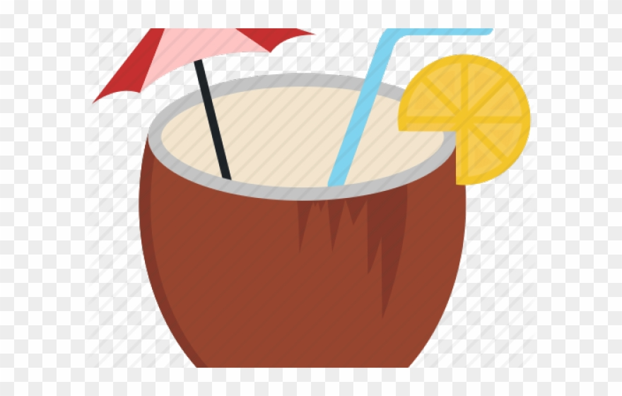Coconut Drink Clipart.
