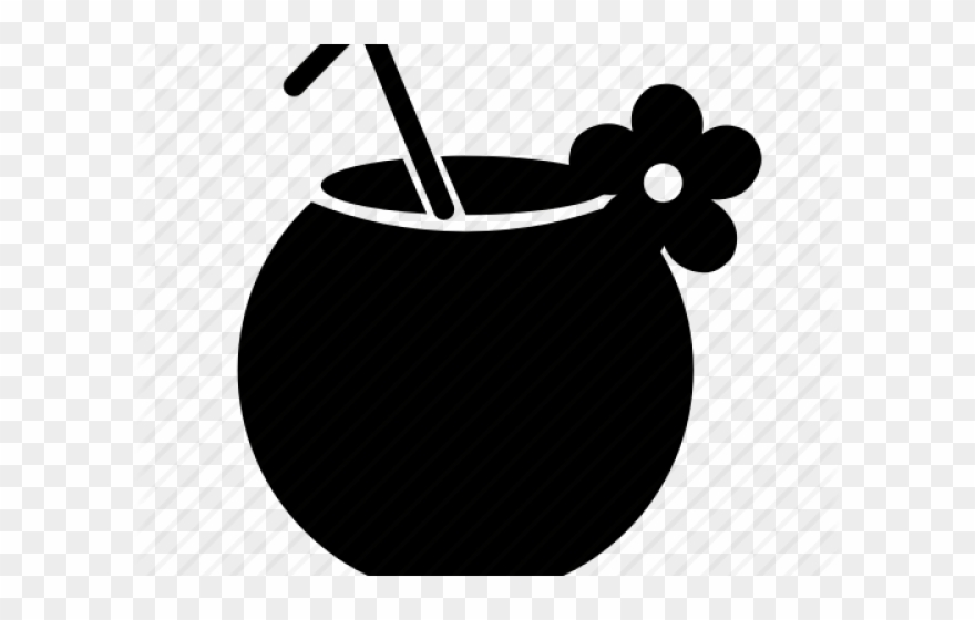 Exotic Clipart Coconut Drink.
