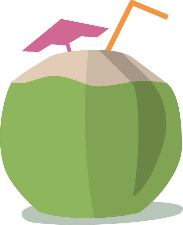 Tender Coconut Clipart.