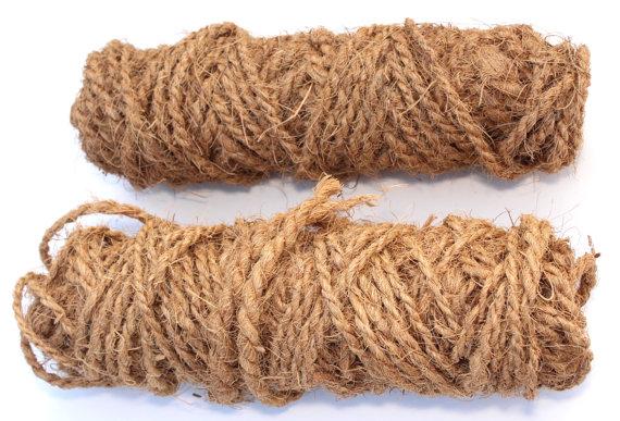 Natural Coir Rope Burlap String Cord Hemp Raffia Twine.