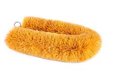 Coconut Fiber Brush Stock Photo.