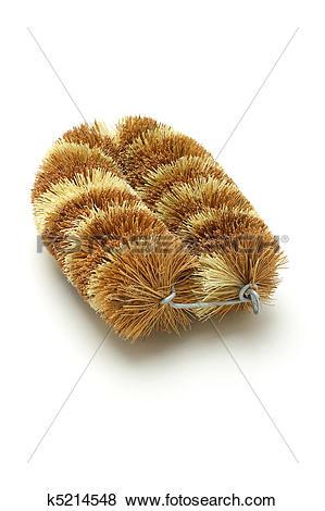Pictures of Natural coconut fiber brush k5214548.