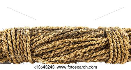 Stock Photo of Coconut Fiber Rope k13543243.