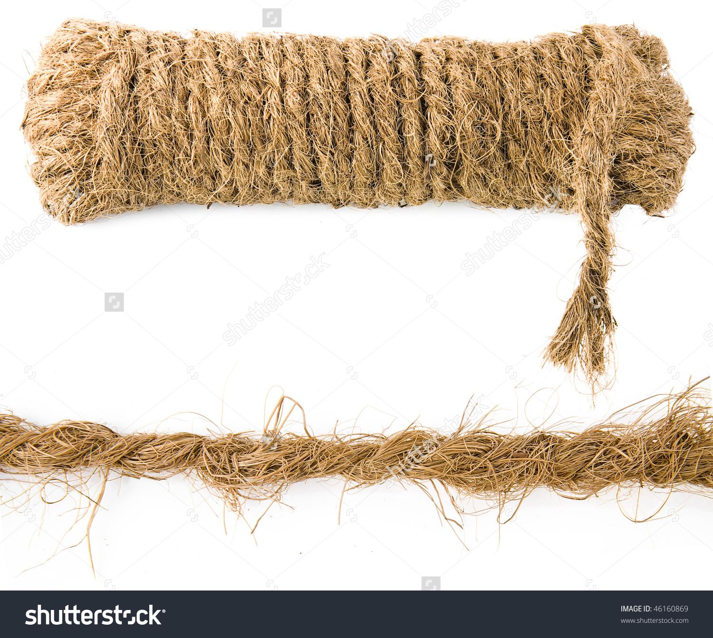 Coir Rope Coconut Fiber Isolated On Stock Photo 46160869.