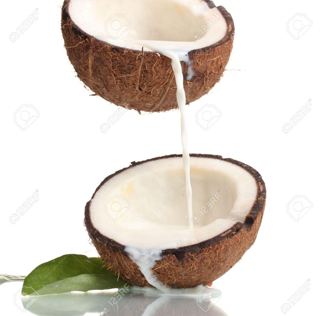 Coconut milk clipart.