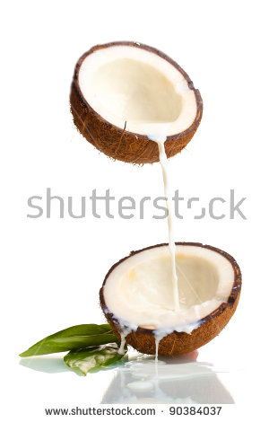 Coconut milk clipart #5