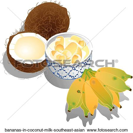 Coconut milk clipart #6