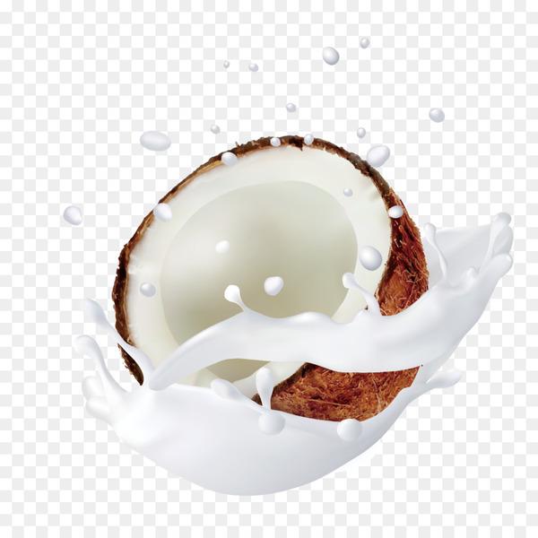 Coconut milk Coconut water.
