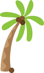 Coconut tree clip art.
