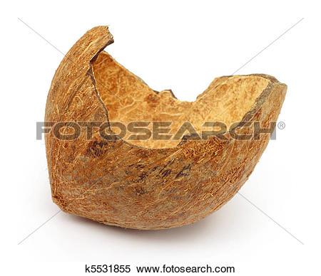 Stock Image of Broken coconut shell k5531855.