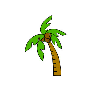 Coconut tree clipart #19