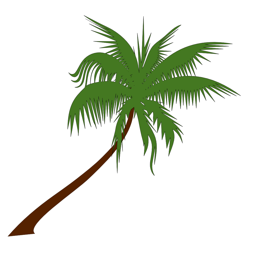 Palm tree root clipart #1
