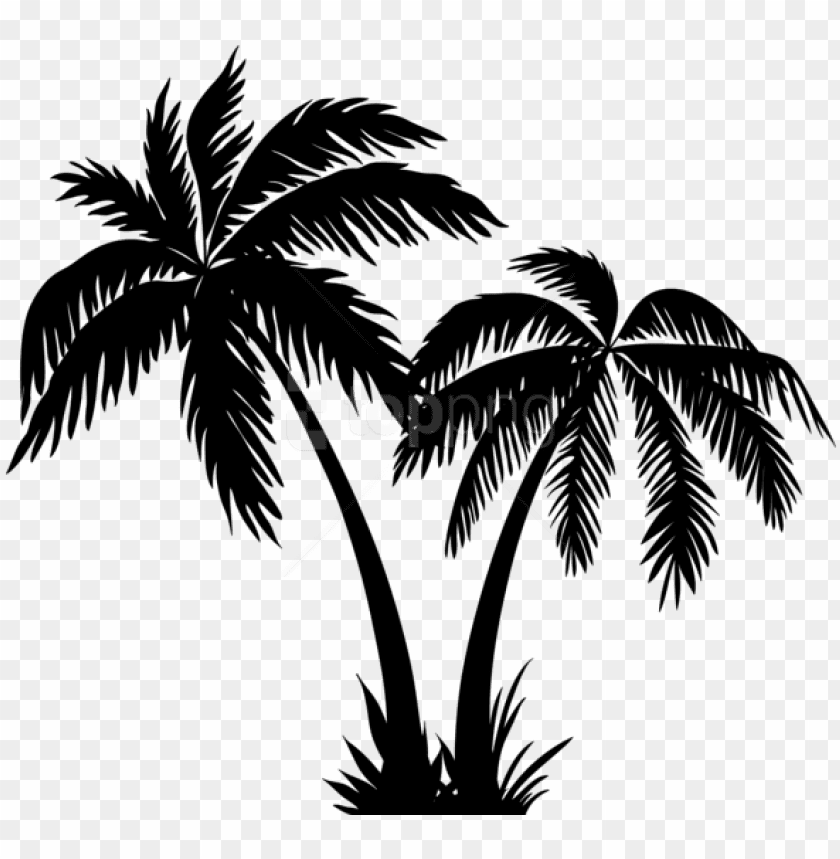 free png palms silhouette png.