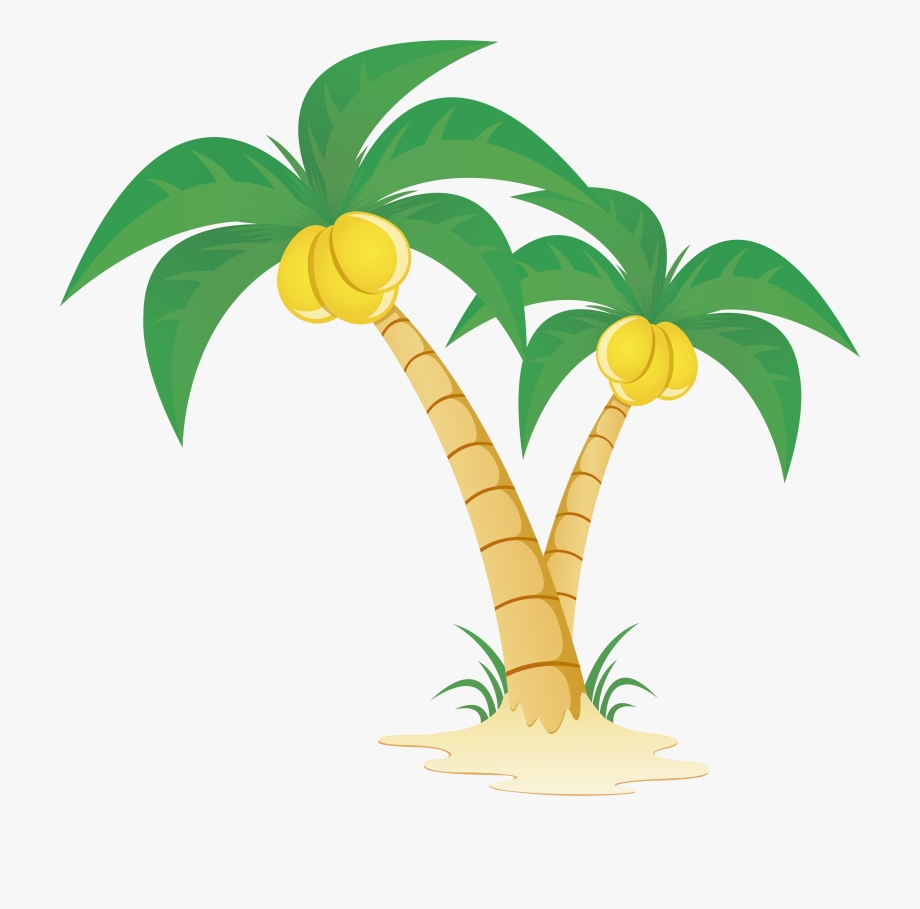 Coconut Tree Vector Png Hd #1420931.