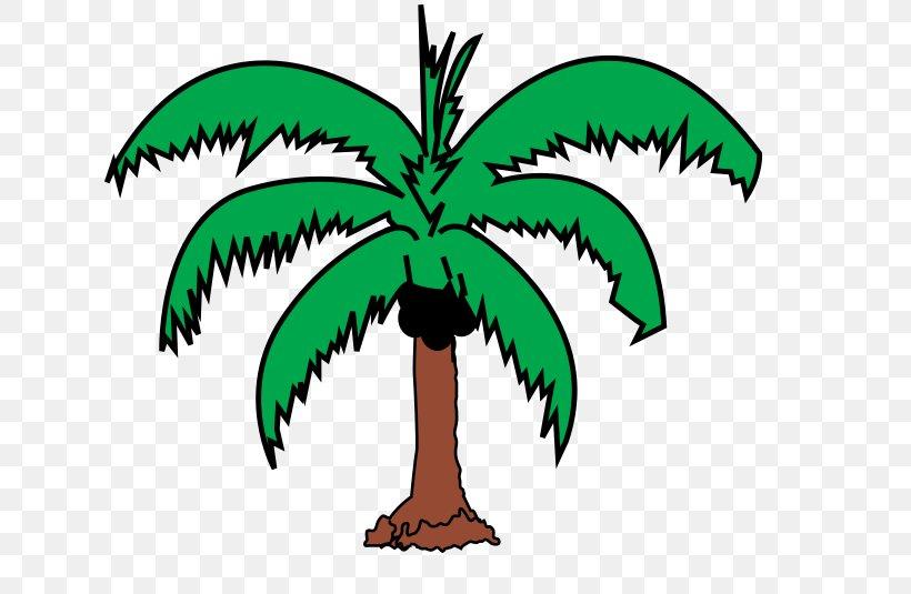 Arecaceae Coconut Tree Leaf Clip Art, PNG, 640x535px.