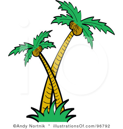 Clipart coconut palm tree.