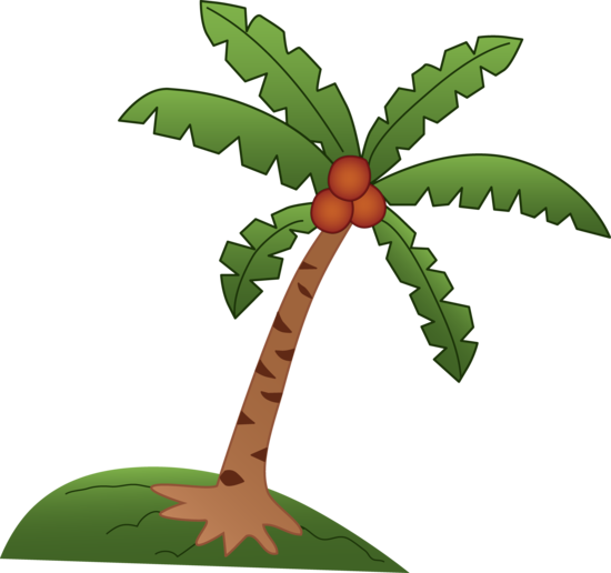 Coconut Tree Drawing.