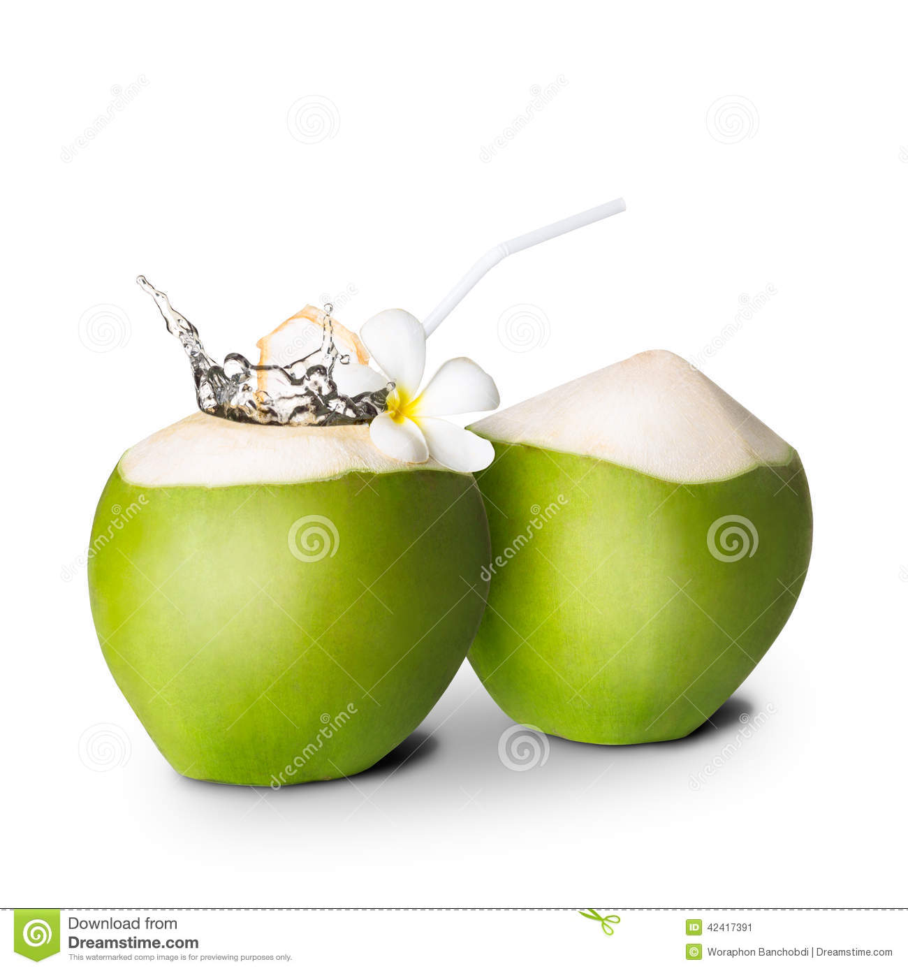 Open Coconut With Water In It Clipart.