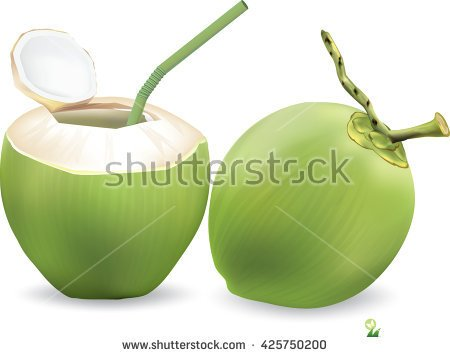 Coconut Juice In A Box Clipart.
