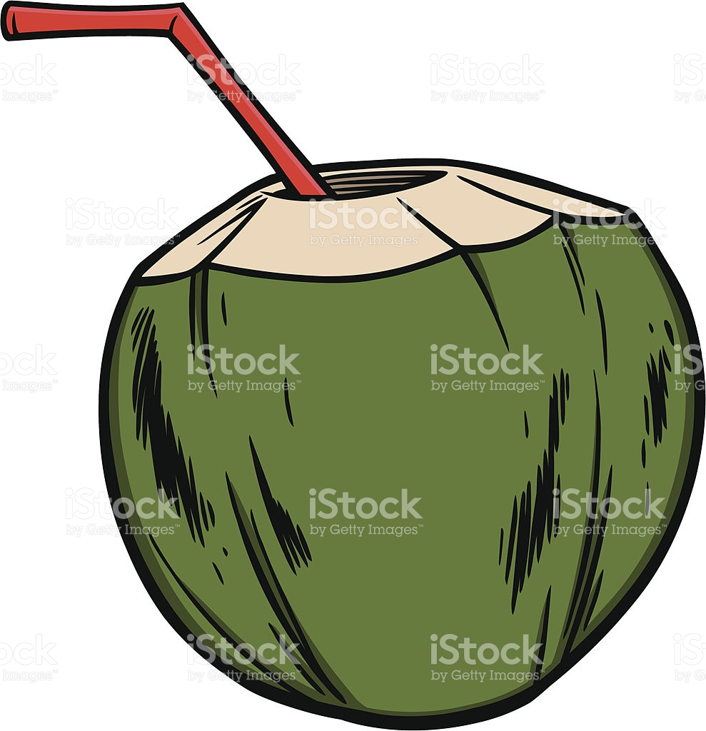 Coconut Water Clipart 7