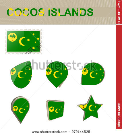 Cocos Islands Stock Vectors & Vector Clip Art.