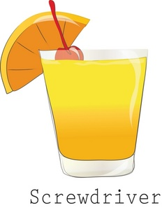Cocktail Clipart Image.