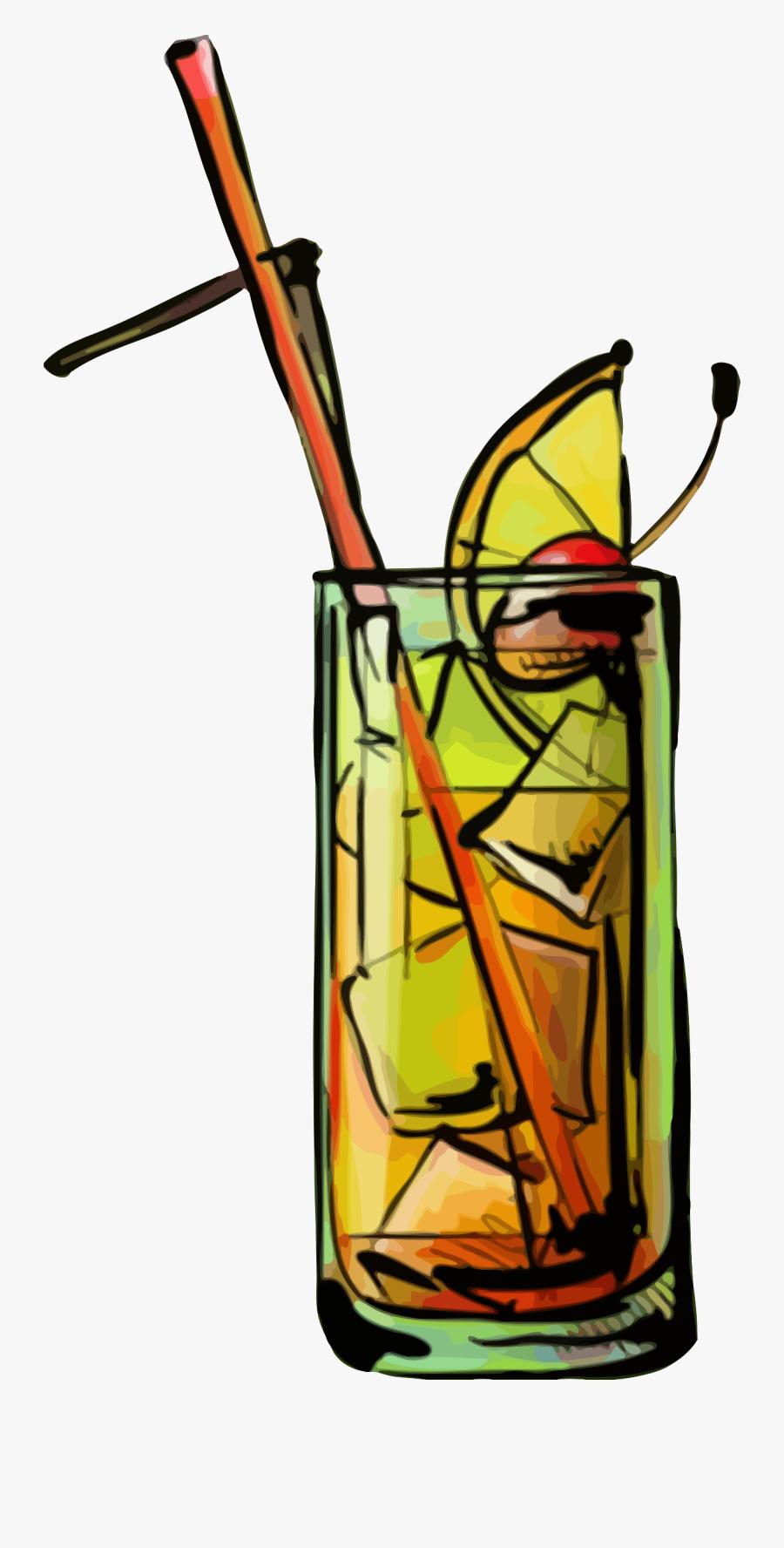Tequila Sunrise Cocktail Clip Arts.