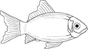 Cod Fish Black And White Clipart.