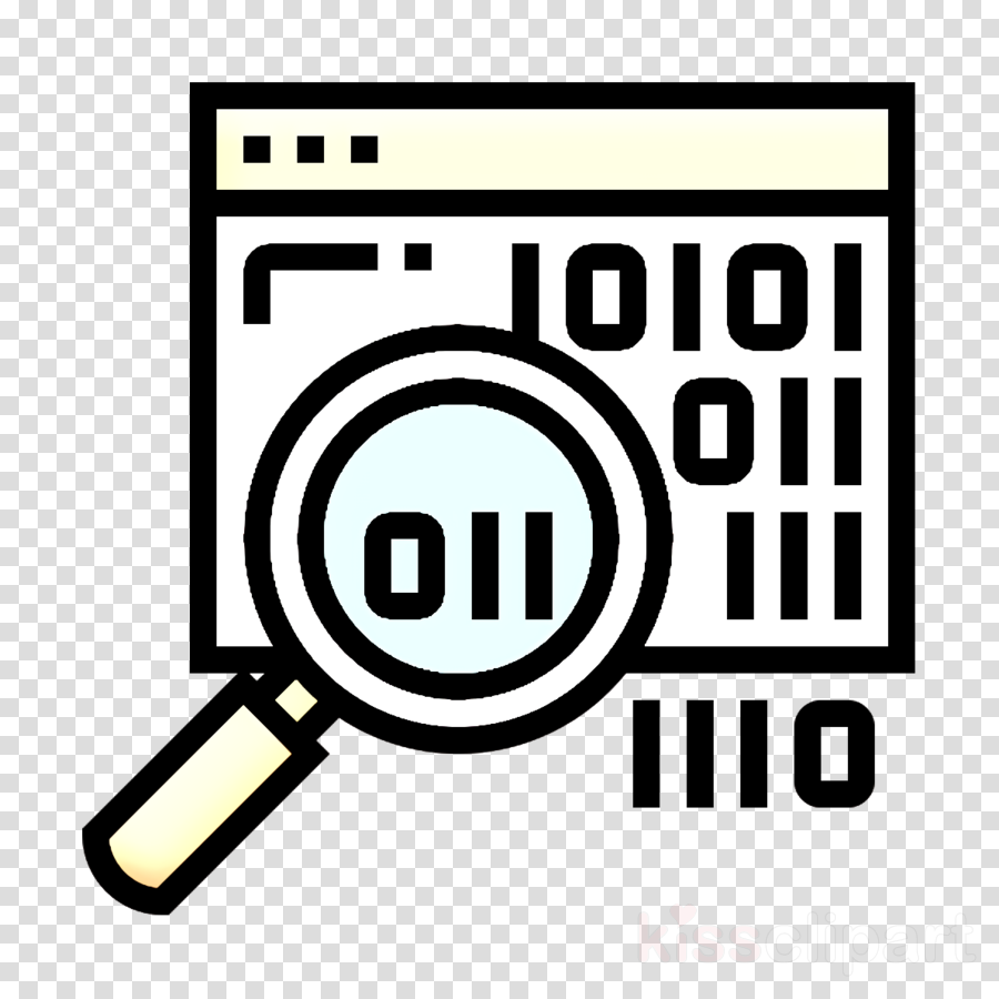 Code icon Artificial Intelligence icon Binary code icon.