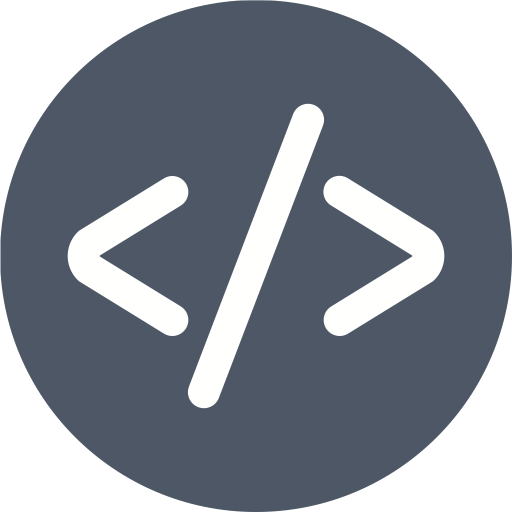 Code Icon of Glyph style.