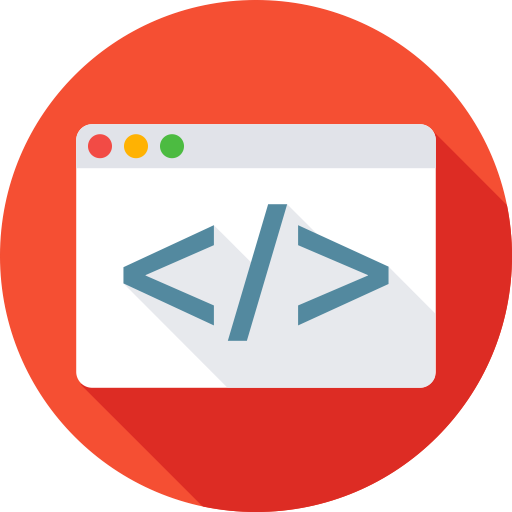 Browser, code, coding, html, programming, web icon.