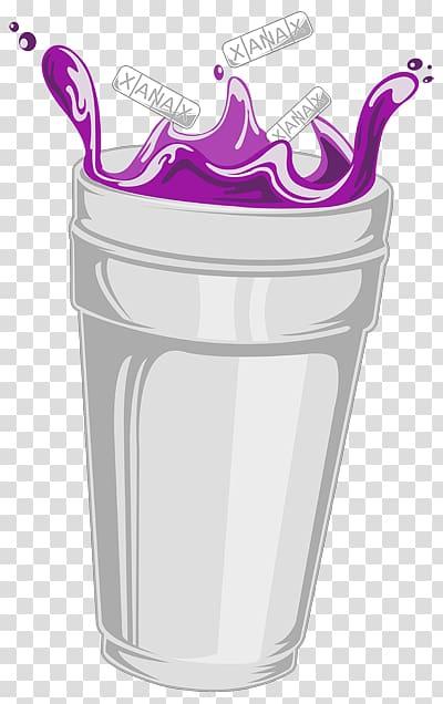 White cup illustration, Purple drank Desktop Codeine Mobile Phones.